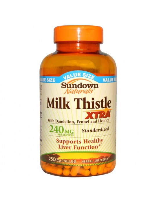 Sundown Naturals Milk Thistle XTRA 240mg, 250 Capsules