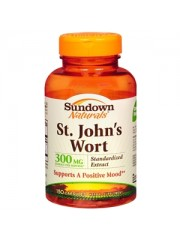 Sundown Naturals, St. John's Wort, 300mg, 150 Capsules, Pack of 3