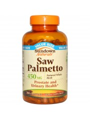 Sundown Naturals Saw Palmetto 450mg, 250 caps, Pack of 3