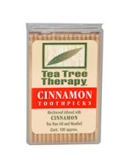 Buy 1 Get 1 Free: Tea Tree Therapy, Cinnamon Toothpicks, Cont. 100 app ...