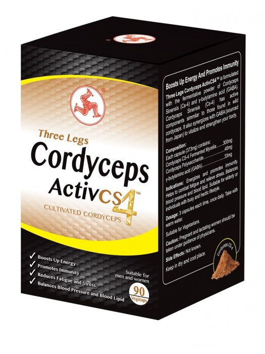 Three Legs Cordyceps Activ CS4, 90 Capsules, pack of 2