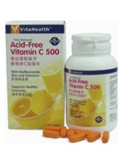 VitaHealth Time-Released Acid-Free Vitamin C 500 w/ Bioflavonoids, Zin ...