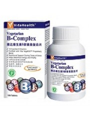VitaHealth Vegetarian B-Complex, 100 Tablets, Twin Pack