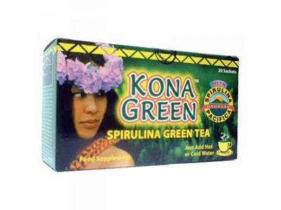 Kona Green Spirulina Green Tea, 1 Box 20 sachets - BUY 1 FREE 2
