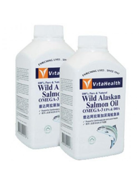 VitaHealth Wild Alaskan Salmon Oil, OMEGA-3 EPA & DHA, 300 Sgls, Pack of 2