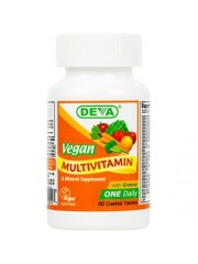 DEVA Vegan Multivitamin with Iron, 90 Tabs, Pack of 2