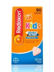 Redoxon Kids Double Action Chewables, 90 tabs, Tutti Frutti, Pack of 2