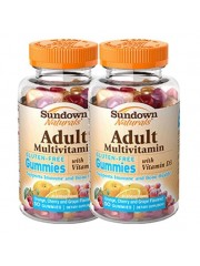Sundown Naturals Adult Multivitamin Gummies, 2 x 50 Gummies (Twin Pack ...