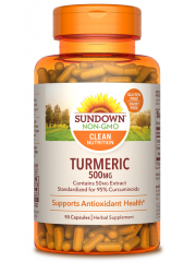 Sundown Naturals Turmeric 500mg, 90 caps